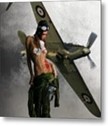 Aviator Metal Print by Crispin  Delgado