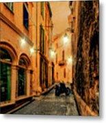 Avignon Alley At Sunset Metal Print
