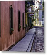 Aviles Street The Oldest Street In The Usa Metal Print