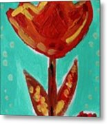 Avis-flowers From The Flower Patch Metal Print