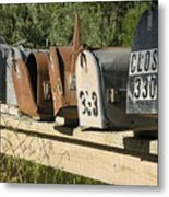 Awaiting Mail  Metal Print