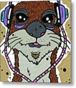 Awesome Otter Metal Print