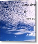 Awesome Sky And Cloud Formation Metal Print