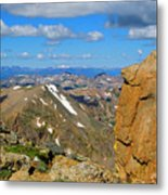 Awesome View From The Mount Massive Summit Metal Print