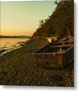 Axe Estuary Boat  Metal Print