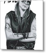 Axl Rose Metal Print by Caio Caldas