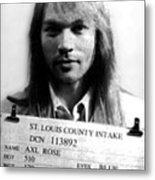 Axl Rose Mug Shot 1992 Front Photo Metal Print