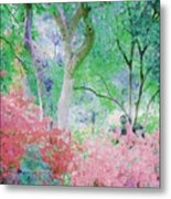 Azalea Flowers And Tree Coral  Metal Print