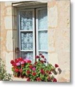 Azay Le Rideau Bridge, Window, Lace Metal Print