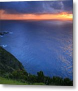 Azores Islands Sunset Metal Print