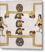 Aztec Ball Game Metal Print