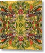 Aztec Kaleidoscope - Pattern 001 - Desert Metal Print