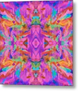 Aztec Kaleidoscope - Pattern 009 Metal Print