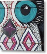 Aztec Owly Metal Print