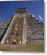 Aztec Pyramid Near Mexico City Metal Print