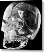 Aztec Rock Crystal Skull Metal Print