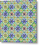 Azulejos Magic Pattern - 11 Metal Print