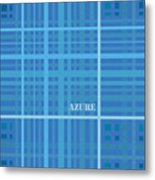 Azure Blue Abstract Metal Print