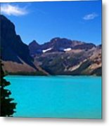 Azure Blue Mountain Lake Metal Print