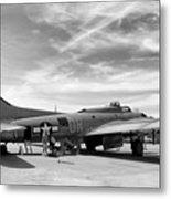 B-17  Black  Metal Print