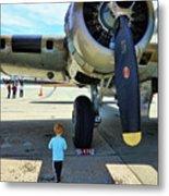 B-17 Engine Aircraft Wwii Metal Print
