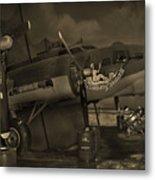 B - 17 Field Maintenance  Metal Print