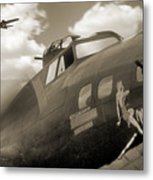 B - 17 Memphis Belle Metal Print by Mike McGlothlen