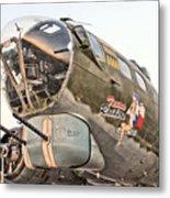 B-17 Texas Raiders Metal Print