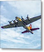 B-17g Flying Fortress In Flight  Metal Print