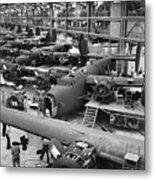 B-24 Liberator Bombers Nearing Metal Print by Everett
