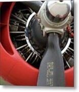 B-24 Prop Detail Metal Print