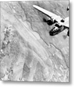 B-25 Bomber Over Germany Metal Print