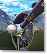 B-25 Engine Metal Print