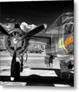 B-25 Mitchell Infrared Metal Print