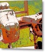 B-25 Red B Metal Print