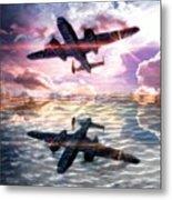 B-25b Usaaf Metal Print by Aaron Berg