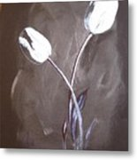 B And W Tulips Metal Print