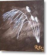 B And W Wild Grass Metal Print