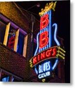 B B Kings On Beale Street Metal Print
