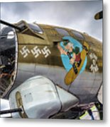 B17 Nine-o-nine Nose Art V2 Metal Print
