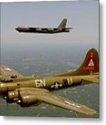 B17g And B52h In Flight Metal Print