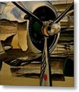 B25 Mitchell Bomber Starboard Engine 1943  Warbirds Metal Print