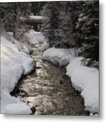Babbling Brook, Early Spring, Lake Louise, Alberta Metal Print