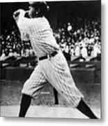 Babe Ruth 1895-1948 At Bat, Ca. 1920s Metal Print