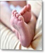 Babies Feet Metal Print