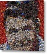 Babr Ruth Puzzle Piece Mosaic Metal Print
