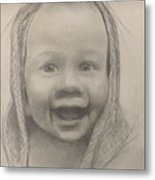 Baby 2 Portrait Metal Print