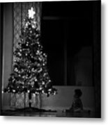 Baby And Tree Metal Print