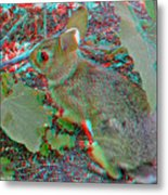 Baby Bunny - Use Red-cyan 3d Glasses Metal Print