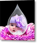 Baby Dewdrop Metal Print